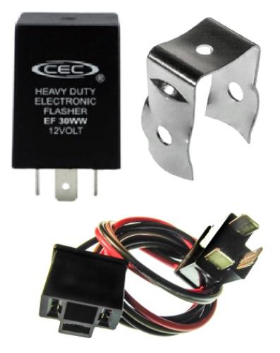 Alternating Auto Flasher Relay Bracket Wire Harness 3